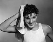1950s Man Drying Hair