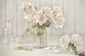 Vintage Roses in Antique Glass
