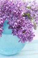 Lilacs in Blue Vase IV