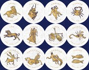 Gilded Zodiac Signs