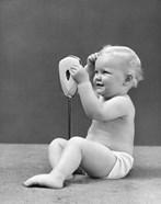 1940s Blond Baby Girl