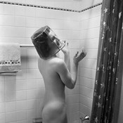 1930s Nude Woman In Shower