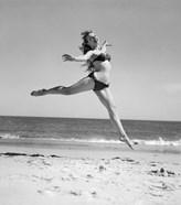 1950s Woman In Bikini Running