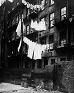 1930s Tenement Building With Laundry