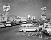 1950s Shopping Center Parking Lot
