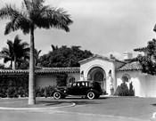 1930s Car In Circular Driveway