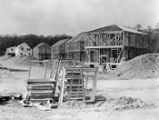 1950s Suburban Housing Development Under Construction
