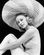 1930s Blonde Woman Wearing Bathing Suit
