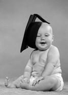 1950s Portrait Chubby Baby In Diaper