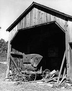 1960s Farm Shed Sheltering Old Buggy