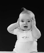 1950s Baby With Hands Up