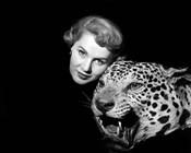 1950s Dramatic Face Shot Woman Posing