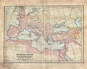 Vintage Roman Empire Map