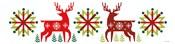 Geometric Holiday Reindeer III