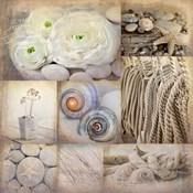 Sepia Seaside Collage I