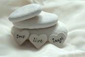 Pebbles Hearts - Live, Laugh, Love