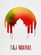 Taj Mahal Landmark Red