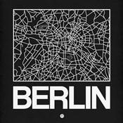 Black Map of Berlin