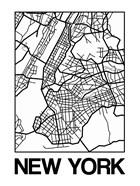 White Map of New York