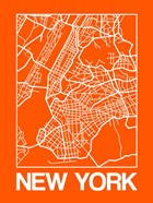 Orange Map of New York