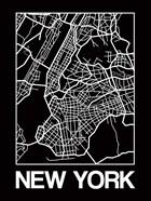 Black Map of New York
