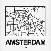 White Map of Amsterdam
