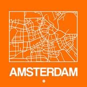 Orange Map of Amsterdam