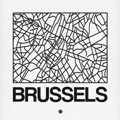 White Map of Brussels