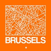 Orange Map of Brussels