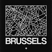 Black Map of Brussels