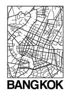 White Map of Bangkok