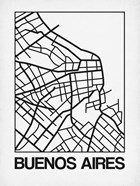 White Map of Buenos Aires