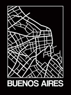 Black Map of Buenos Aires