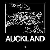 Black Map of Auckland