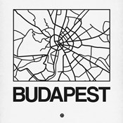 White Map of Budapest