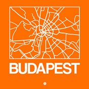 Orange Map of Budapest