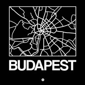 Black Map of Budapest
