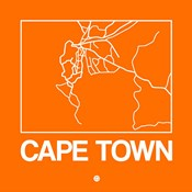 Orange Map of Cape Town