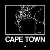 Black Map of Cape Town
