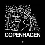 Black Map of Copenhagen