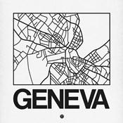 White Map of Geneva