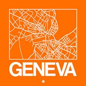 Orange Map of Geneva