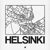 White Map of Helsinki