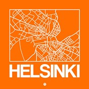 Orange Map of Helsinki