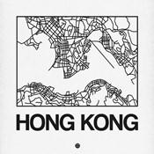 White Map of Hong Kong