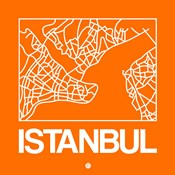 Orange Map of Istanbul