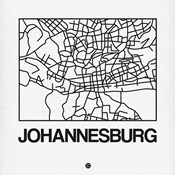 White Map of Johannesburg