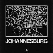 Black Map of Johannesburg