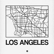 White Map of Los Angeles