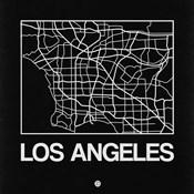 Black Map of Los Angeles